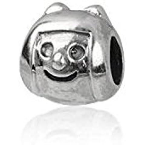 Happy Smiley/Happy Face/testa–Charm in argento Sterling perline stile Pandora per