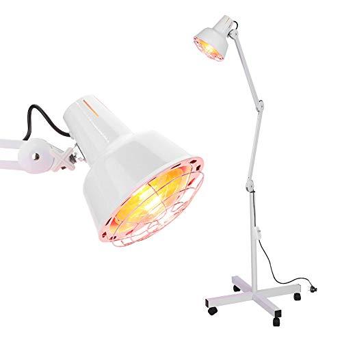 Cocoarm Infrarotlampe Wärmelampe Infrarot Massagelampe 220V Infrarot Licht Rotlichtlampe Fußboden Stand mit Rädern für Körpermuskulatur Schmerzlinderung Behandlung, EU Stecker