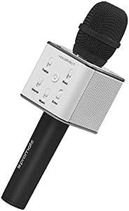 Portable Wireless Karaoke Microphone, Bluetooth Handheld Mic Built-in Premium Bass Dual Speaker, Compatible fo