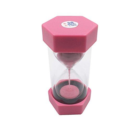 winomo Sanduhr einfach Sechseck Sanduhr 30Sekunden Kunststoff Sicherheit Sand Timer Sanduhr Sanduhr Geschenke (Rosa) (30-sekunden-sanduhr Timer)