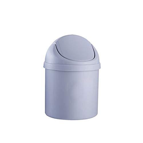 Zlw-shop Secchi per la spazzatura Creative Mini Plastic Trash Can Camera da Letto Soggiorno Dressing Table Garbage Storage Container (Color : Purple)