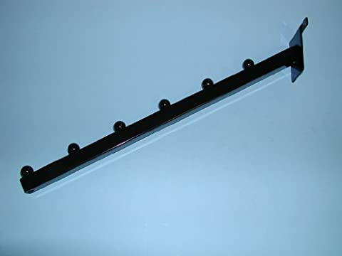 6 BALL WATERFALL SQUARE TUBE FOR SLATWALL-BLACK-Lot of 25 by Unknown