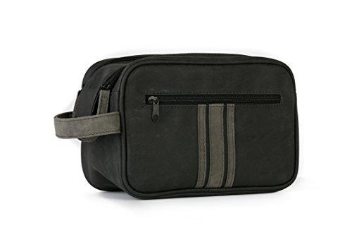 Danielle Creations Brompton und Langley schwarz und anthrazit, Double Zip Bag