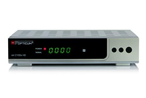 Opticum AX C100s HD DVB-C Digital Kabel Receiver (HDTV, DVB-C, HDMI, SCART, USB) silber