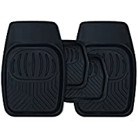 Landrover Discovery 3 Black Rubber Heavy Duty Deep Tray Floor Mud Mats New