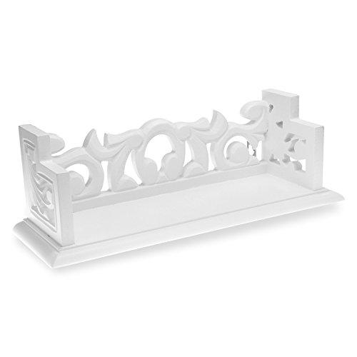 Console di legno/Piccola mensola bianca in legno, 32x 11x 11cm