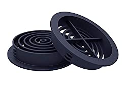 10 Number Anthracite Grey 70mm Plastic Round Soffit Air Vents/Upvc Push in Roof Disc/Fascia