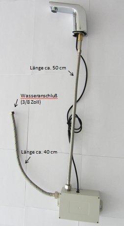 Watermeetsdesign – Infrarot IR Sensorarmatur, Waschtisch, Kaltwasserarmatur, mit Batteriebetrieb, Chrom - 3