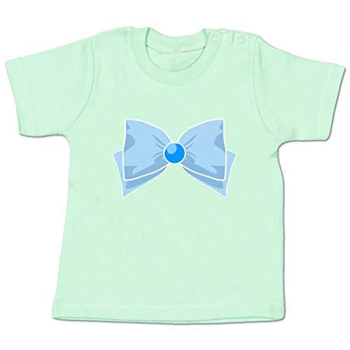 Karneval und Fasching Baby - Superheld Manga Merkur Kostüm - 3-6 Monate - Mintgrün - BZ02 - Baby T-Shirt ()