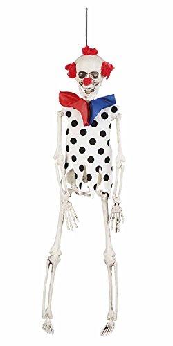 ion Skelett Clown, 40 cm (Gruselige Psycho Clown Kostüm)