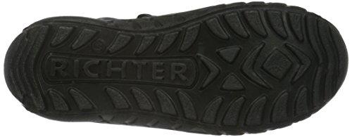 Richter Kinderschuhe  Husky, Bottes et bottines à doublure chaude fille Noir - Schwarz (Black/Steel 9901)
