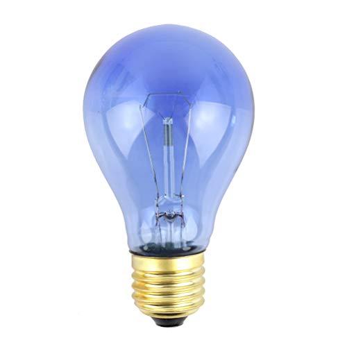 POPETPOP Reptile Heat Lampe UV Reptile Light Blue Glass Heizlampe Turtle Basking UVA + UVB Heizlampe für Reptilien Sun Light Bulb 40 Watt