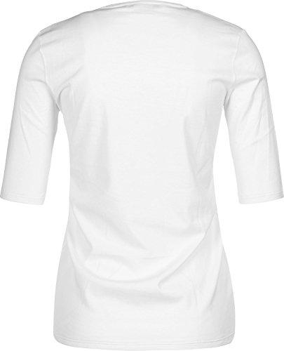 Lacoste Damen T-Shirt Weiss (10) 42 -