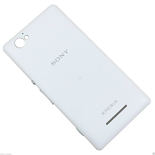 ikazen White Replacement Battery Door Panel Housing Back Cover Case with NFC for Sony Xperia M / C1904 / C1905
