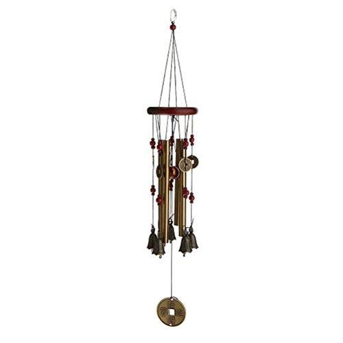 ROSENICE Windspiel, 4 Rohre 5 Glocken Klangspiel Windspiel