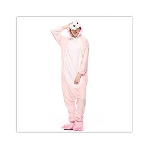 Adults Pijama Animal Unicorn Pajamas Sets Panda Cartoon Kigurumi Women Winter Unisex Flannel Stitch Pajamas Unicornio Sleepwear Pink Dragon XL (Victoria S Secret-models Halloween)