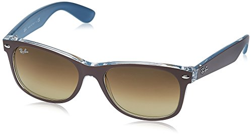 Ray-Ban Unisex Sonnenbrille New Wayfarer Brown and Transparent, Large (Herstellergröße: 55)