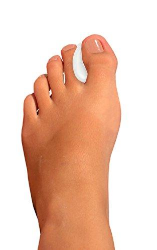 Zehentrenner, Fuß Spacer, Soft Gel Kissen Corn Protektoren, bequemes Kissen zur Schmerzlinderung, Fuß Keil Pads für Hallux Valgus Schutz, 2Stück Fuß unterstützt, dass verhindert Zehen Reiben, verschiedene Größen, Kaps Trenner (Pediküre-zehen-separatoren)