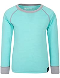 852ff023404 Mountain Warehouse Merino Kids Round Neck Baselayer Top – Full Sleeves