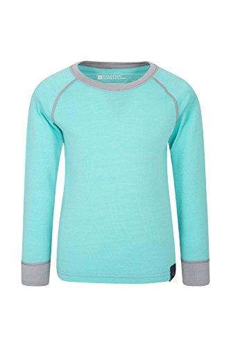 2bb3d6f93 Mountain Warehouse Merino Kids Round Neck Thermal Baselayer Top – Full  Sleeves