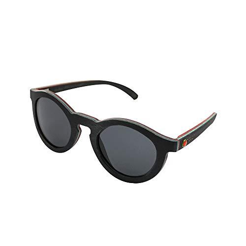 MELON Unisex Polarisierte Sonnenbrille aus kanadischem Ahorn, UV 400, Woodys Sunshades Skatewood,...