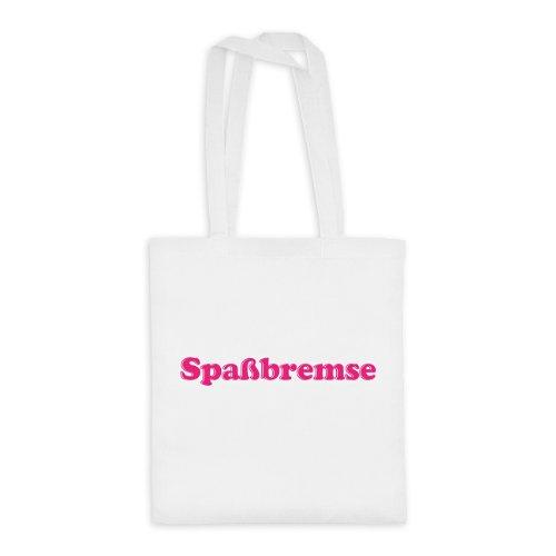 dress-puntos Baumwolltasche Spaßbremse drpt-bwt00386-16 Textil white / Motiv neonpink - 42 x 38 cm (Spaßbremse Kostüm)