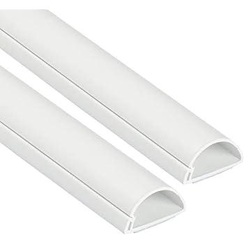 Beliebte Alternative f/ür den Fu/ßbodenabschluss L x 1 Meter Grau Viertelstabprofil als L/ösung zum Sortieren von Kabeln H Kabelmanagementl/ösung f/ür Ecken - 22x22mm D-Line Quadrant CableTraC