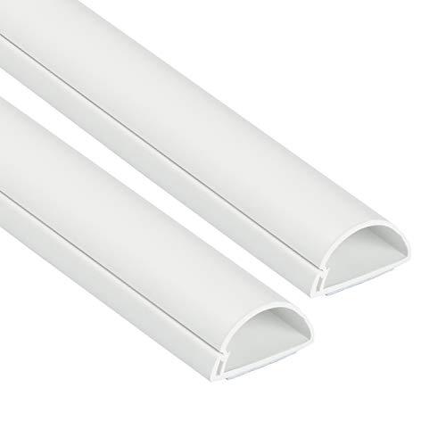 D-Line 1D3015W-2PK Mini Kabelkanal zur Kabelführung | Kabelleiste - 2 x 30x15 mm, 1 m Länge (2-meter) - Weiß