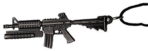 pendentif fusil m16 mitraillette carabine acier noir Sons Of Anar Paintball airsoft Us Usa