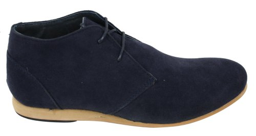 Chaussures homme Noir Beige marron bleu marine Boots simili daim hauteur chevilles Marine