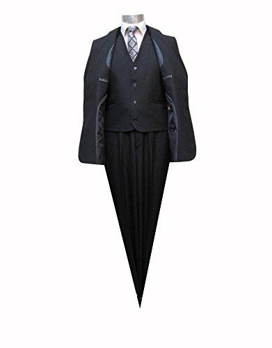 Elegante Herrenanzug mit Weste Schwarz Muga Schwarz