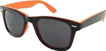 Retro Twin Tone Fifties Style Sunglasses - Black / Orange