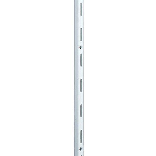 Element System Wandschiene 1-reihig, 2 Stück, 4 Abmessungen, 3 farben, lange 200 cm für Regalsystem, Regalträger, Wandregal, weiß, 10000-00039