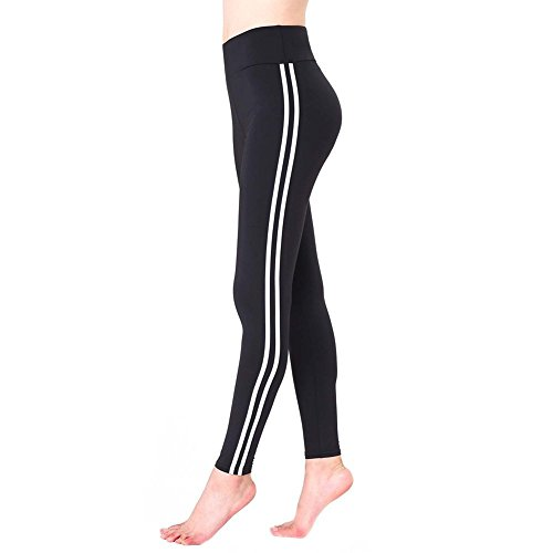 Damen Yoga Hosen - Multicolor 100 Fashion Leggings (Schwarz)