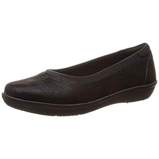 Clarks Ladies Cloud Steppers Flat Shoes Ayla Low - Black Textile - UK Size 5D - EU Size 38 - US Size 7.5M