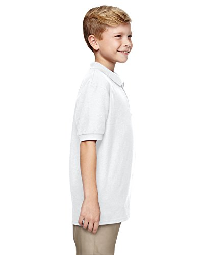 Gildan Kids DryBlend pique knit polo White