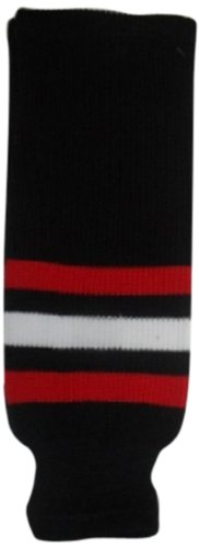 DoGree Hockey Chicago Blackhawks Knit Hockey Socks Black/Red/White Youth/20-Inch