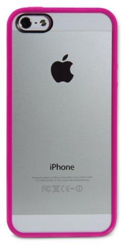 LUVVITT ? CLEARVIEW Filet de protection anti-rayures/TRANSPaRENT Coque pour iPhone 5/5S Transparent rose