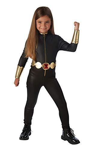 Rubies 3630504 Kostüm, Mädchen, schwarz (Marvel Black Widow Kostüm Großbritannien)