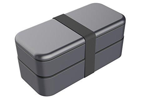 Grau-stack (function101Bento Stack Box grau - space gray)