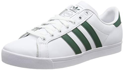 adidas Herren Coast Star Sneaker, Weiß Collegiate Green/Footwear White 0, 46 2/3 EU - Adidas Leder Schuhe
