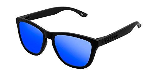 Hawkers Carbon Black Sky One, Gafas de Sol Unisex, Negro/Azul