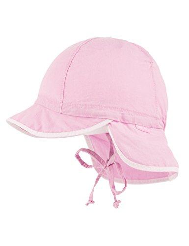 maximo Baby - Mädchen Mütze Schildmütze, Waschoptik, Nackenschutz, Bindeband, Rosa...