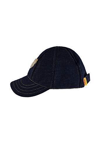 Steiff Baby-Jungen Kappe Baseballcap Jeans, Blau (Dark Denim|Blue 0012), 55 -