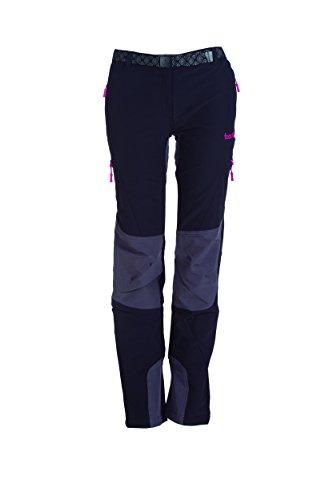 Izas Dera Pantalones de montaña, Mujer, Multicolor (Negro / Gris oscuro), S
