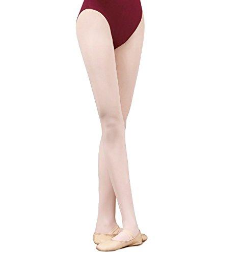 Kukome (TM) Footed Ballett-Tanzen Strumpfhose Strümpfe für Mädchen (Rosa, S (Höhe 100-130cm))