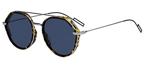 Dior Homme 0219S 3MA Havana 0219S Round Sunglasses Lens Category 3 Size 53mm