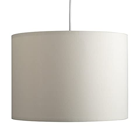 Large Modern Rolla Polycotton Cream Cylinder Ceiling Pendant / Table Or Floor Lamp Drum Light Shade