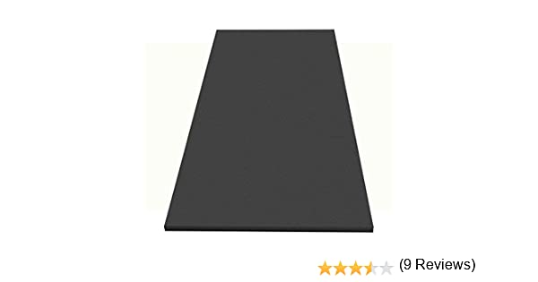 200 x 100 x 4 cm Dibapur mousse insonorisante lisse anthracite noir