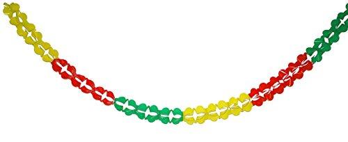 Hula Kostüm Boy (Party Palast - Karnevalsdeko- Party Girlanden- Wimpelkette bunt, 10x480cm, 1 Stück,)